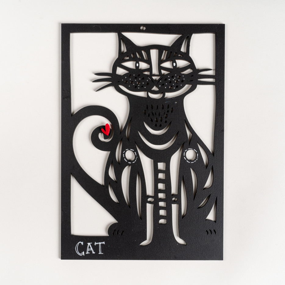 Image of Cat Woodcut – Medium