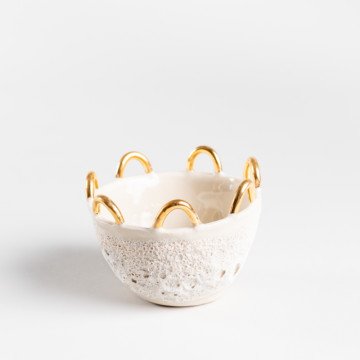 Image for Anemone Bowl with Gold Loops | Small