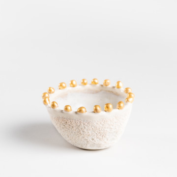 Image for Anemone Bowl with Gold Dots | Small