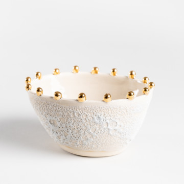 Image for Anemone Bowl with Gold Dots | Regular