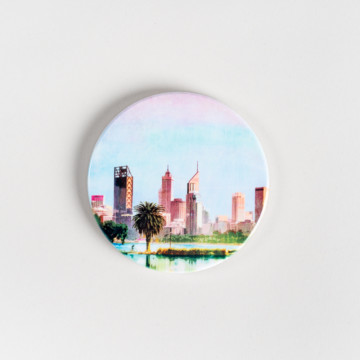Image for Ceramic Coaster | Perth City Skyline