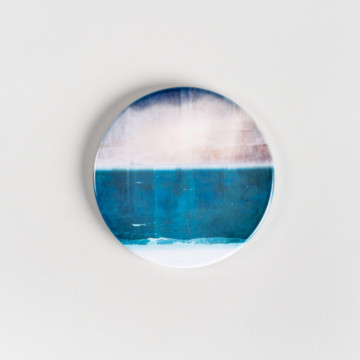 Image for Ceramic Coaster | Moody Skies Over Port Beach