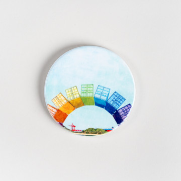 Image for Ceramic Coaster | Fremantle Rainbow Containers