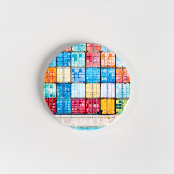 Image for Ceramic Coaster | Fremantle Shipping Containers