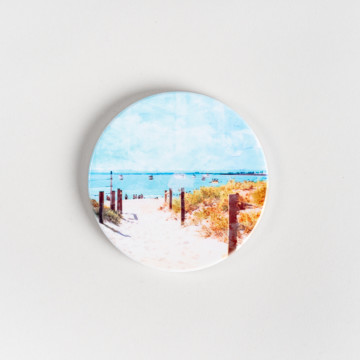 Image for Ceramic Coaster | Summer Days at South Beach Fremantle