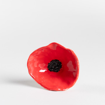 Image for Red Poppy Flower Bowl