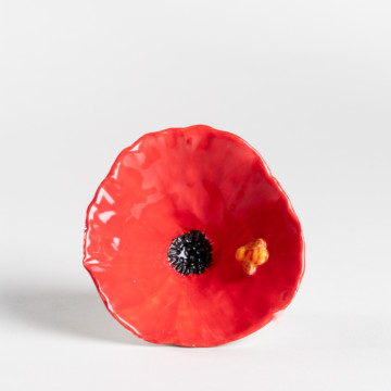 Image for Bee & Red Poppy Bowl