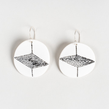 Image for White Porcelain Earrings