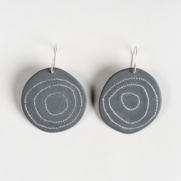 Image for Black Porcelain Earrings