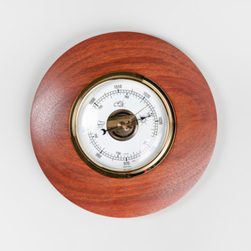 Image for Round Jarrah Barometer | Large
