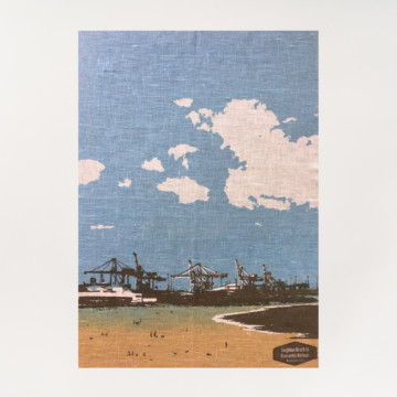 Image for Linen Tea Towel | Leighton Beach to Fremantle Harbour