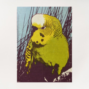 Image for Linen Tea Towel | Budgerigar
