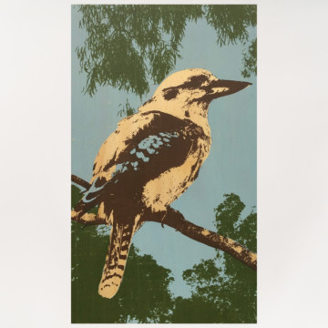 Image for Plywood Panel | Blue Winged Kookaburra