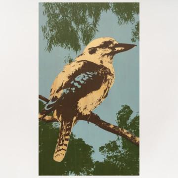 Image for Plywood Panel | Blue Winged Kookaburra