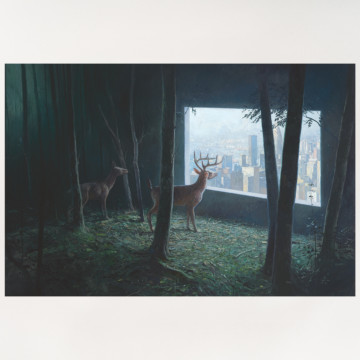 Image for The Vision (deer) |  Archival Print