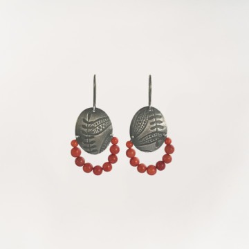 Image for Oxidised Sterling Silver Earrings