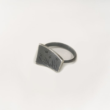 Image for Oxidised Sterling Silver Ring