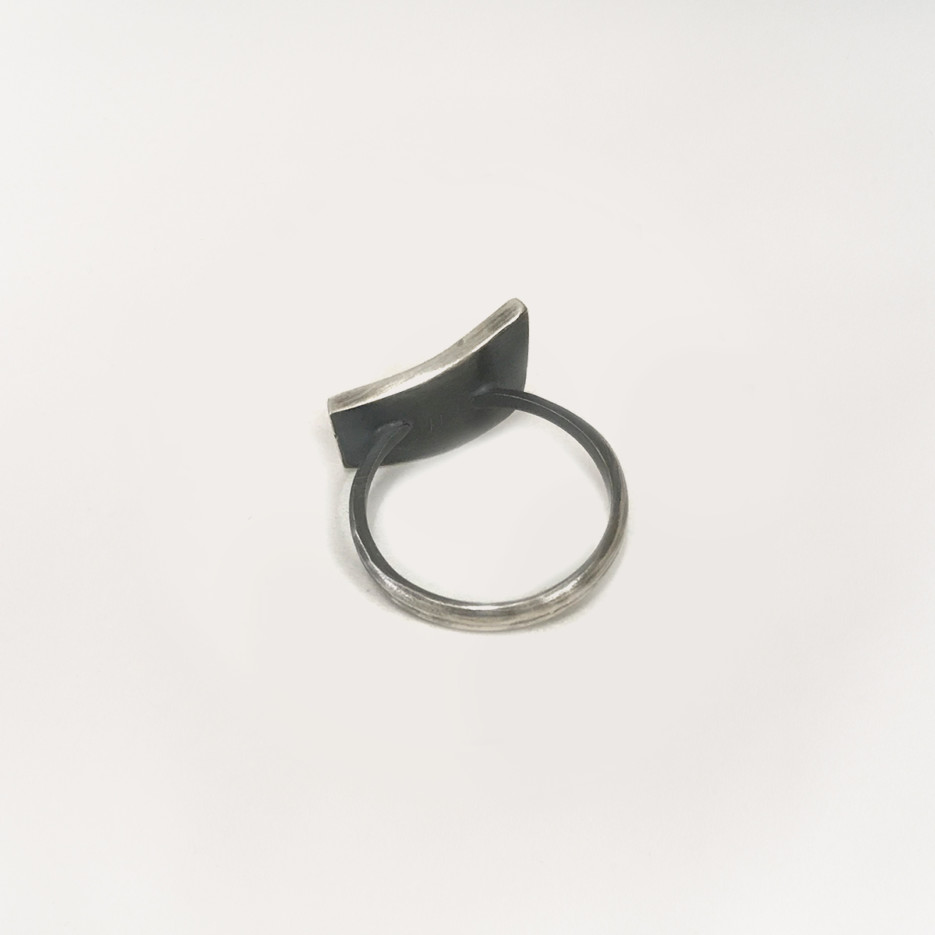 Image of Oxidised Sterling Silver Ring