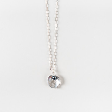 Image for Reversible Mollusc Shell Necklace with Black Fresh Water Pearl