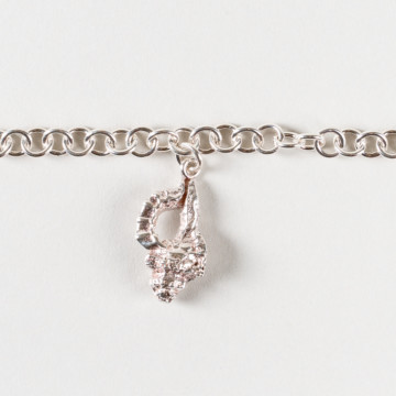 Image for Silver Bracelet with Single Shell Charm
