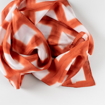 Image for Shibori Dyed Silk Scarf