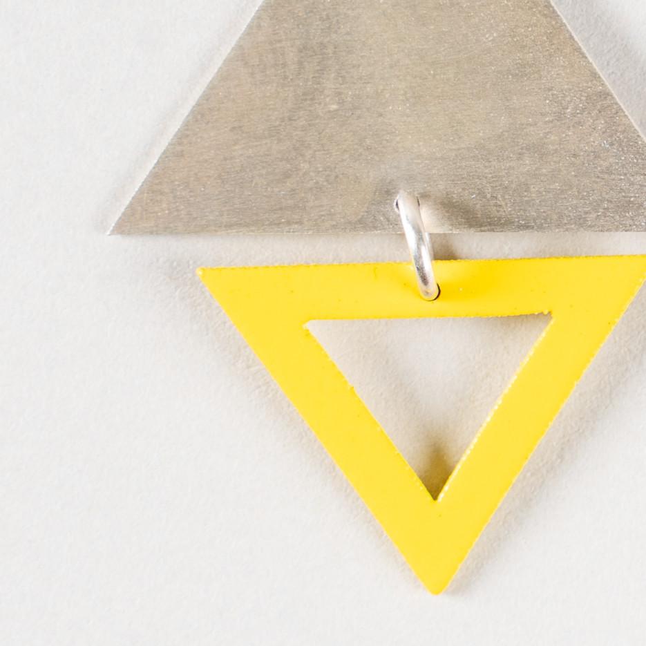 Image of Earrings | Big Top Triangle Studs