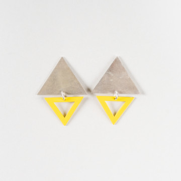 Image for Earrings | Big Top Triangle Studs