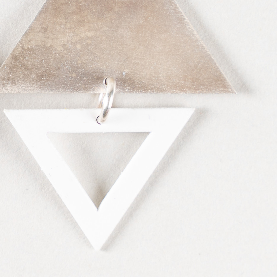 Image of Earrings | Big Top Triangle Studs