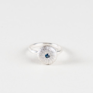 Image for Mini Sea Urchin Ring | Set With Blue Sapphire