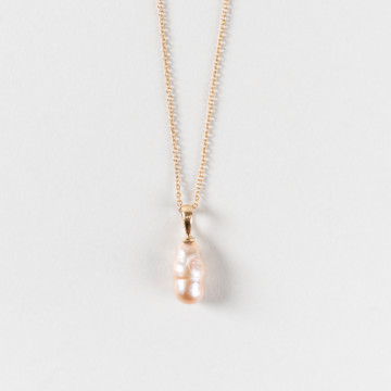 Image for Pink Pearl Pendant with solid gold bail