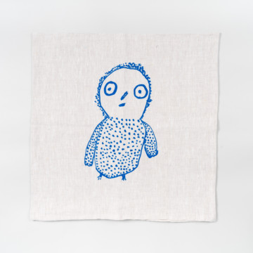 Image for Screen Printed Linen Cushion Cover | Owl