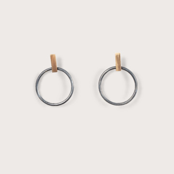 Image for Olympiad Hoops Medium | 9ct Gold & Sterling Silver