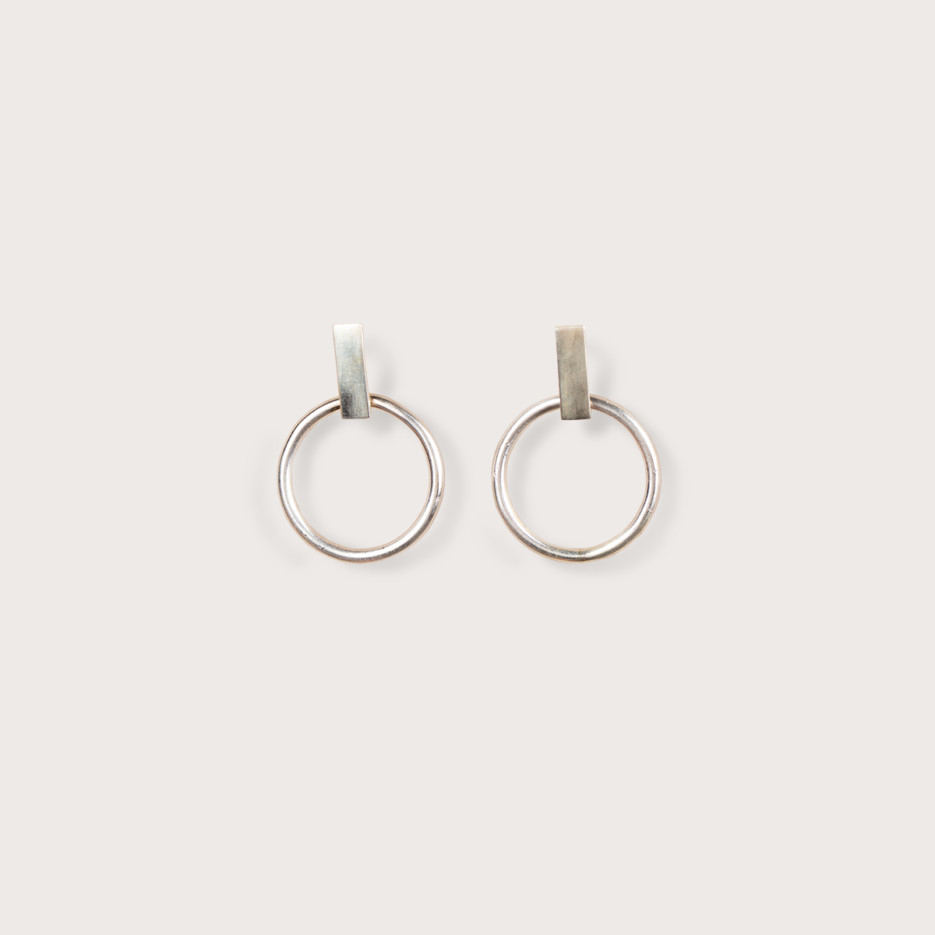 Image of Olympiad Hoops Small | Sterling Silver