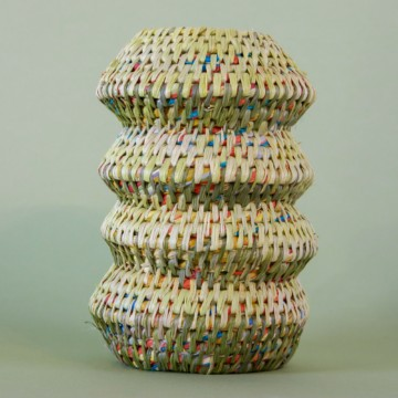 Image for Hand Dyed Woven Vessel | Green