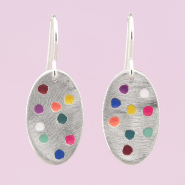 Image for Fairy Bread Earrings   Small Oval