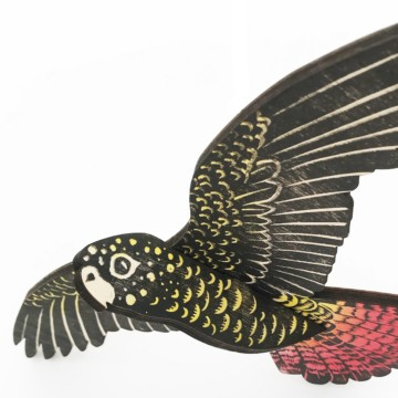Image for Bird Mobile | Red Tailed Black Cockatoo