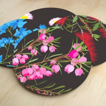 Image for Coasters | Midnight Bloom