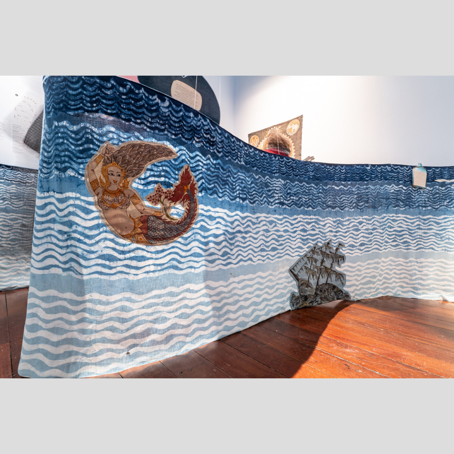 Image of Shipwreck and mermaid (fabric piece of Indian ocean) | 2021